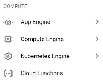 Menu - Kubernetes Engine