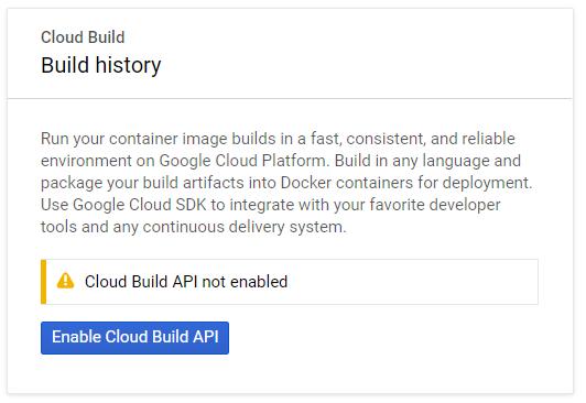 Enable Cloud Build API
