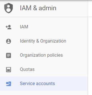 iam - create service account 1
