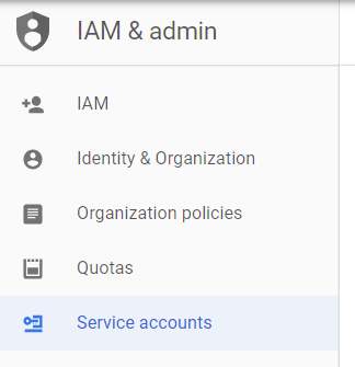 iam - create service account 1