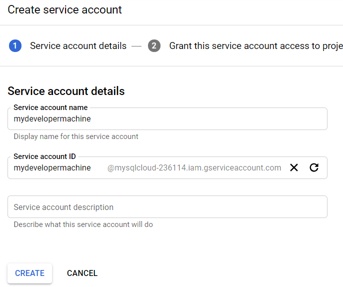 iam - create service account 2