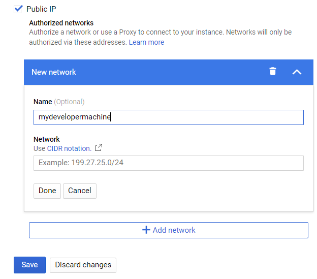 instance connection public 2