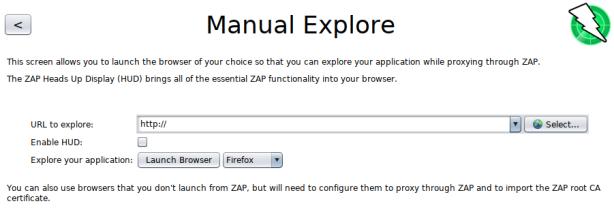 zaproxy-choose-browser